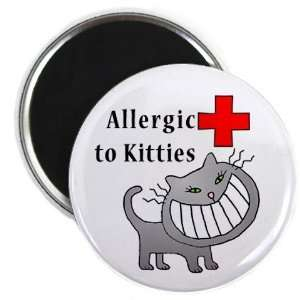 ALLERGIC TO CATS Medical Alert 2.25 inch Fridge Magnet