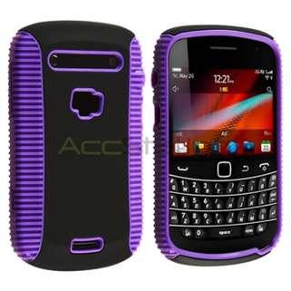 Black Hybrid Case Cover+LCD Guard For BlackBerry Bold 9900 9930