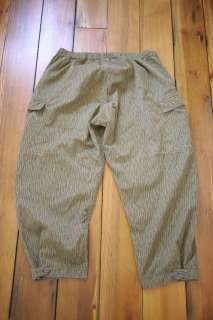 Vtg East German Rain Camo Button Fly Military Army Field Uniform Pants