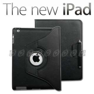 360° Rotating Stand Leather Case Smart Cover for iPad2