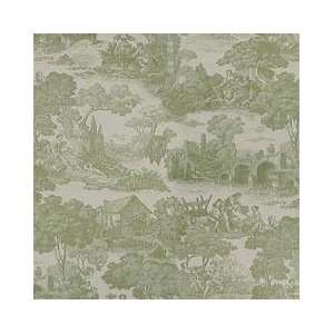 54 Wide Waverly Fabric, La Belle Campagna Sage, Toile Fabric