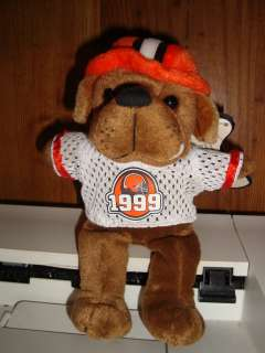 Burger King Cleveland Browns Dawg Pound Crusher Plush Beanie Toy w