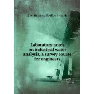 Laboratory notes on industrial water analysis, a survey