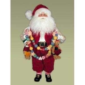 Karen Didion Originals 16 Heirloom Deck The Halls Santa