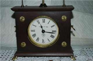Antique Horolovar Flying Pendulum Clock Ignatz Jerome & Co Works Well