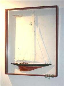 Abordage Framed Shamrock V Half Model Americas Cup Boat