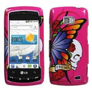 LG VS740/Ally Best Friend Hot Pink Hard Case Cover Protector (free ESD