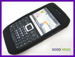 for Straight Talk Nokia E71   Black Rubberized Hard Case Phone Cover