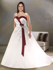 high quality embroidery Wedding Dress size 16 18 26 or custom