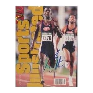 Michael Johnson autographed Sports Illustrated Magazine (Track