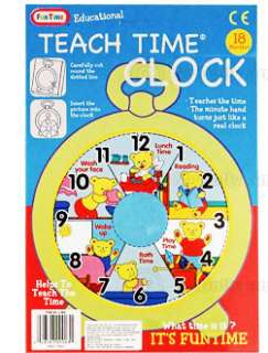 Teaching Time Clock Children Educational Toy NEW