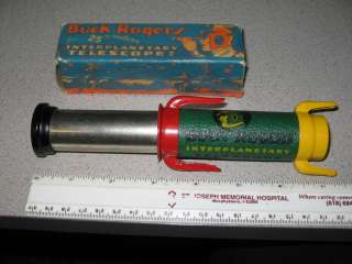 BUCK ROGERS 30s rocket space ship telescope & BOX,robot radio