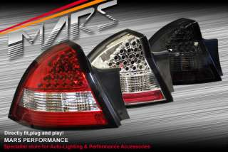 Clear Red LED tail lights for HOLDEN Commodore VY 02 04