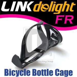 Cycling Bike Bicycle Plastic Drink Water Bottle Holder Cage Rack Black