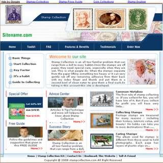 Money Making Stamp Collection Adsense Website 4 Sale