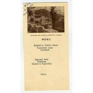 DellHotel Santa Caterina Menu Amalfi Italy 1958