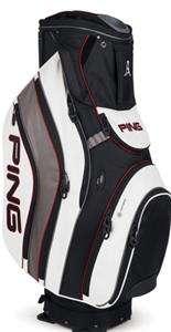 NEW 2012 Ping PIONEER BLACK/WHITE Golf 14 Way CART Bag
