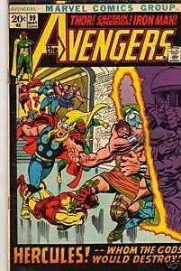 AVENGERS NO 99 THOR IRON MAN ORIGINAL COMIC BOOK
