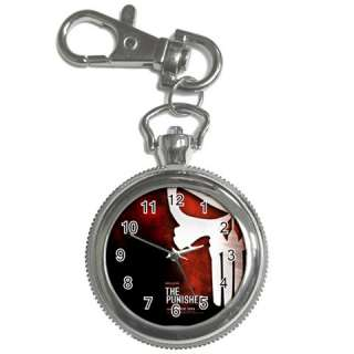 The Punisher Skull Mask Key Chain Watch Pocket Round G