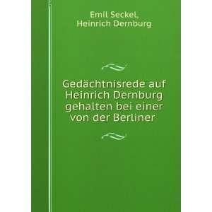 bei einer von der Berliner . Heinrich Dernburg Emil Seckel Books