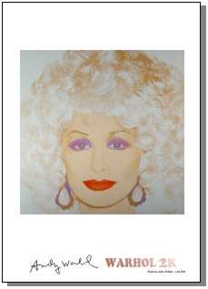 ANDY WARHOL  Dolly Parton Print limd ed Pop Art