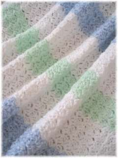 SOFT HAND CROCHET BABY BLANKETS Afghan Personalized