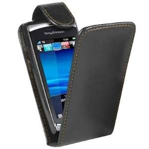 Leather Flip Case Pouch Cover for Sony Ericsson Vivas Electronics