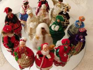 VTG WALCO LIL MISSY COMPLETED BEADED SEQUIN MRS. CLAUS