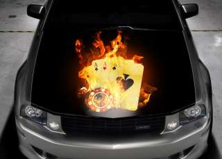 COLOR CAR STICKER DECAL VINYL HOOD POKER SUBARU #35
