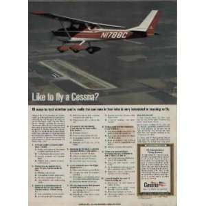1970 Cessna 150 Commuter. Like to fly a Cessna? Ad, A1570