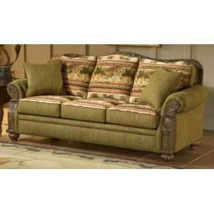 Pine Cone Lodge Collection Forest Deer Love Seat Home