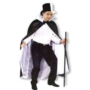 Black & White Unisex Fancy Dress Costume Top Hat & Cape Toys & Games
