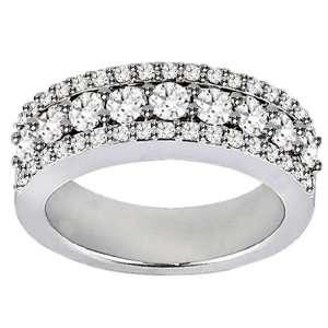 2.00 CT TW Prong Set Round Diamond Anniversary Wedding Ring