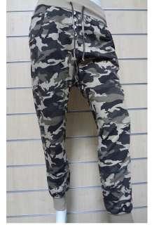 pantaloni alla turca militare mimetico cotone garzato moda ragazza
