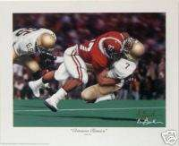 THE SACK ALABAMA CRIMSON TIDE FOOTBALL PRINT & COIN