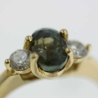 High Quality Genuine Alexandrite & Diamond Gold Ring