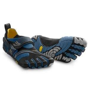 VIBRAM FIVE FINGERS MENS KOMODO SPORT  BLACK/BLUE   MULTIPLE SIZES 40