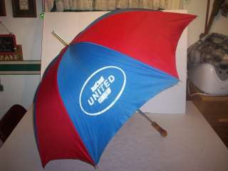 VINTAGE UNITED AIRLINES UMBRELLA RED & BLUE VERY NICE!!