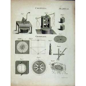 Encyclopaedia Britannica Coining Machine Compass