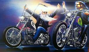 David Mann Art New Year's Ride Easyriders Print Harley Davidson H D