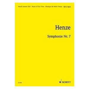 Symphonie Nr.7, Partitur (9790001076692): Hans W. Henze: Books
