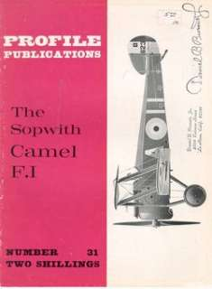 AIRCRAFT PROFILE 31 WW1 RFC RAF SOPWITH CAMEL F.I MINT*