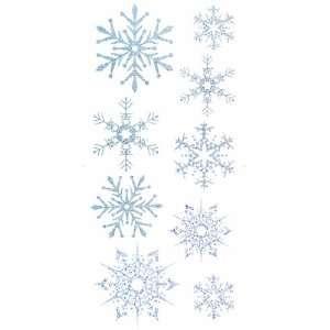 Burnish Adhesive Wall Graphics   Glitter Snow Flakes