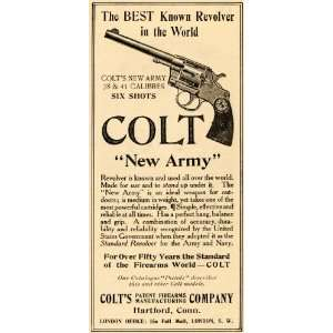 1906 Ad New Army 38 41 Calibres Colt Firearms Revolver