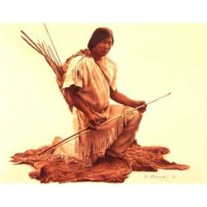 James Bama   Pre Columbian Indian with Atlatl: Home & Kitchen