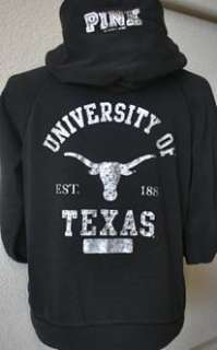 Victorias Secret PINK UNIVERSITY OF TEXAS RHINESTONE HOODIE sz L