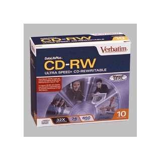 10PK CD RW 74 Min 650MB 32XULTRA Speed with Slim Case