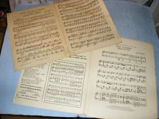 15 Vintage Large Format MARCH Sheet Music