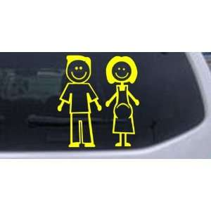 Yellow 8in X 7.5in    Expecting Family Stick Family Stick
