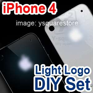 White/Black GSM iPhone4Luminescent Apple LED Light Up Logo Glowing Mod